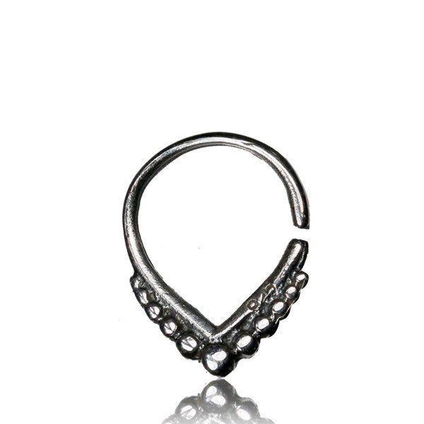 Valli Septum Ring - Silver - Ekeko Crafts