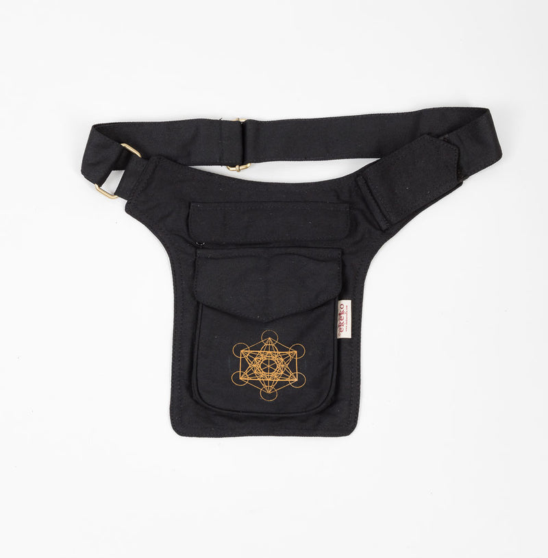Metatrons Cube Single Pocket Belt - Ekeko Crafts