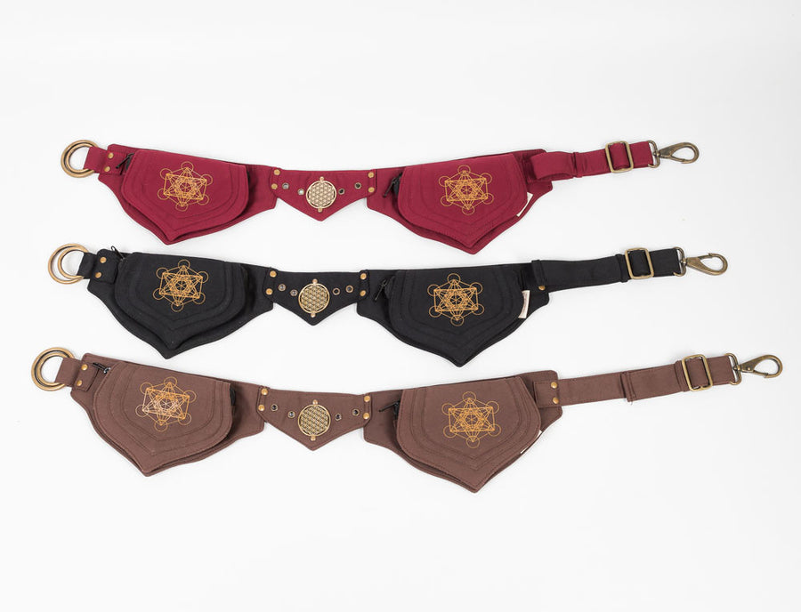 Metatrons Cube Lotus Belt - Ekeko Crafts