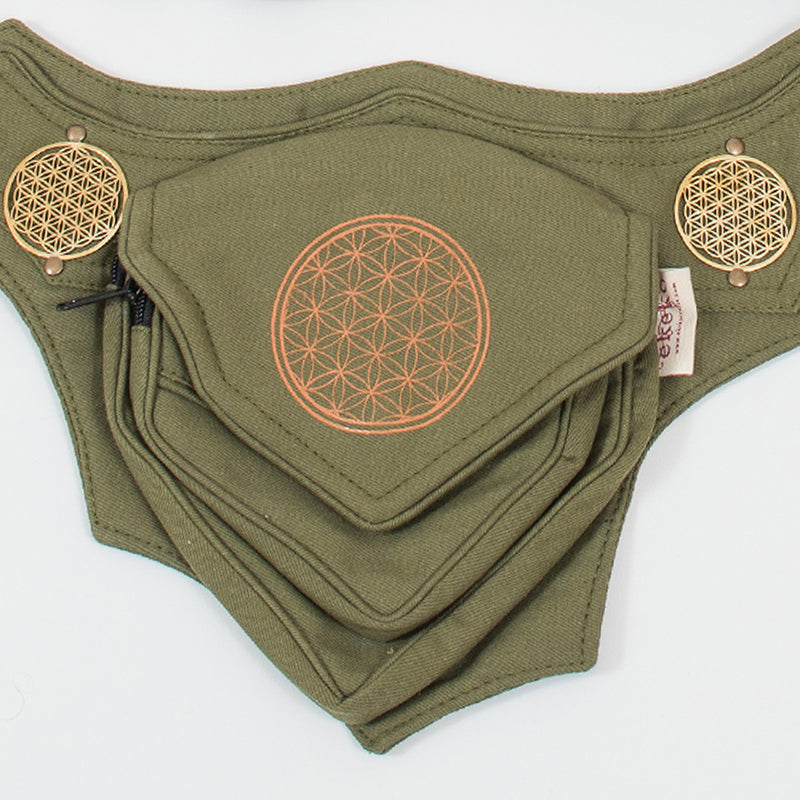 Flower of Life Trikon Belt - Ekeko Crafts