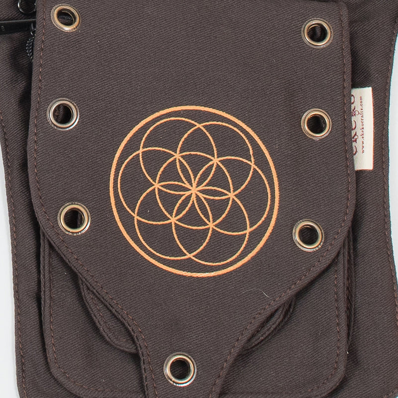Seed of Life Single Pocket Belt - Ekeko Crafts