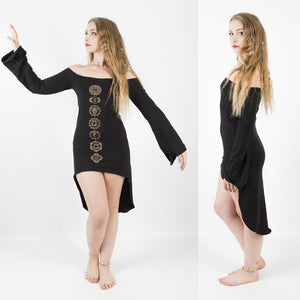 Chakra Bell Sleeve Dress - Ekeko Crafts