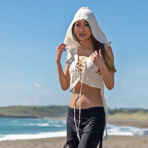 Reversible Hooded Top - Raw Cotton - Ekeko Crafts