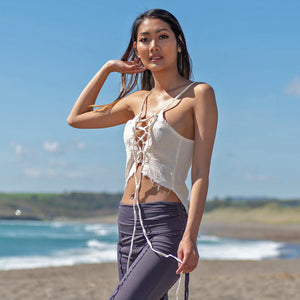 Reversible Lace-Up Top - Raw Cotton - Ekeko Crafts