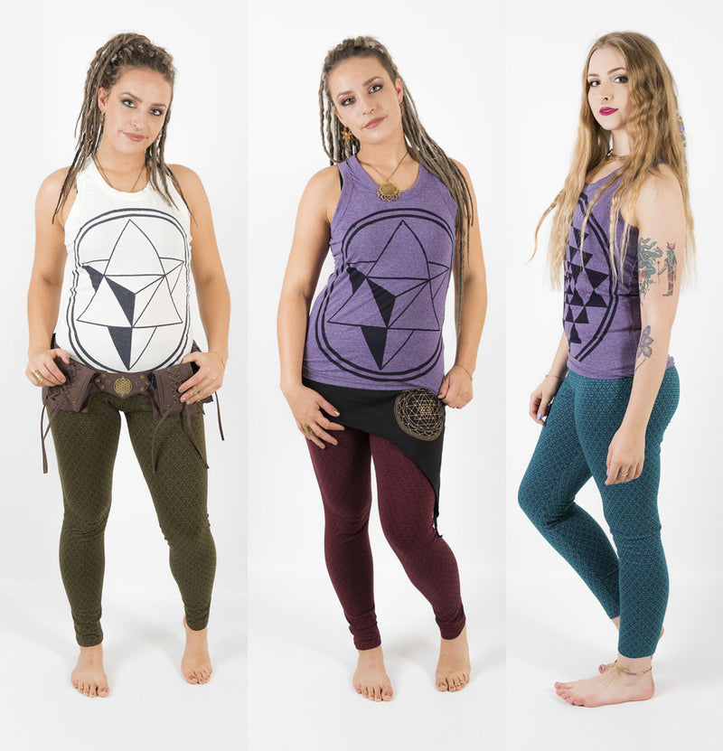 Flower of Life Yoga Leggings - Ekeko Crafts