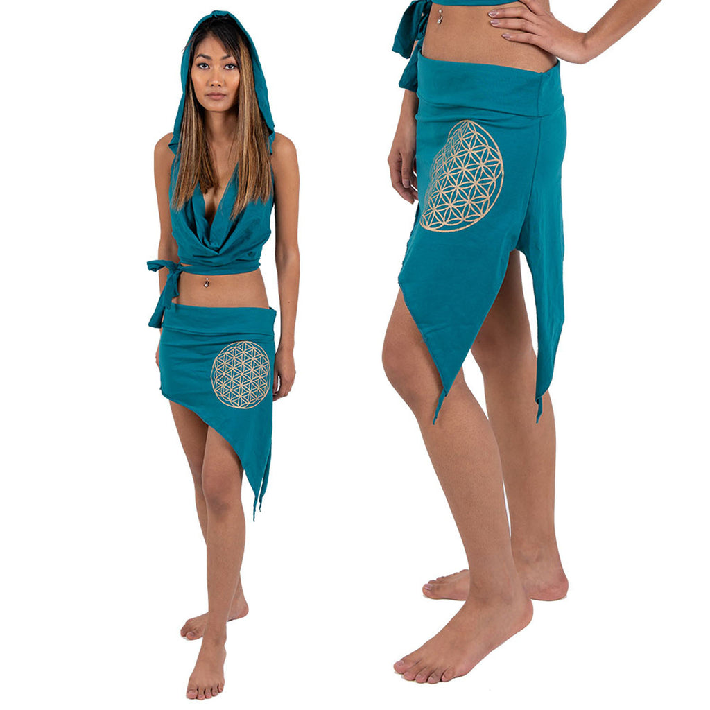 Flower of Life Pixie Skirt - Ekeko Crafts
