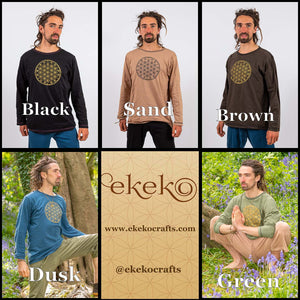 Arjuna Top - Flower of Life Print - Ekeko Crafts