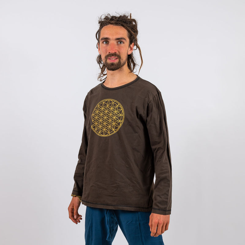Arjuna Top - Flower of Life Print