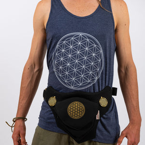 Shiva Singlet - Flower of Life Print - Ekeko Crafts