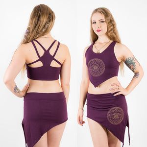 Yoga Crop Top - Sri Yantra - Ekeko Crafts