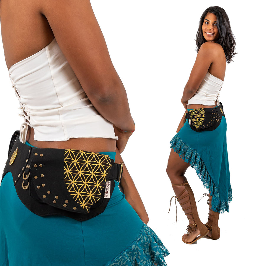 Flower of Life Leaf Belt - Ekeko Crafts