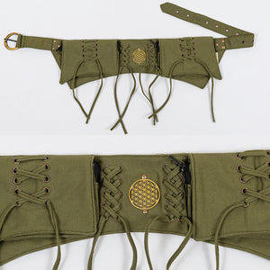 Laced Double Pocket Belt - Ekeko Crafts