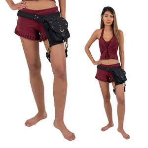 Ganesh Single Pocket Belt with Leg Strap - Ekeko Crafts