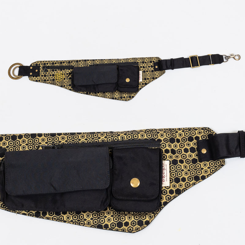 Dancefloor Belt - Hexagon Bee Print