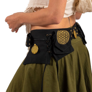 Flower of Life Multi Pocket Belt - Ekeko Crafts