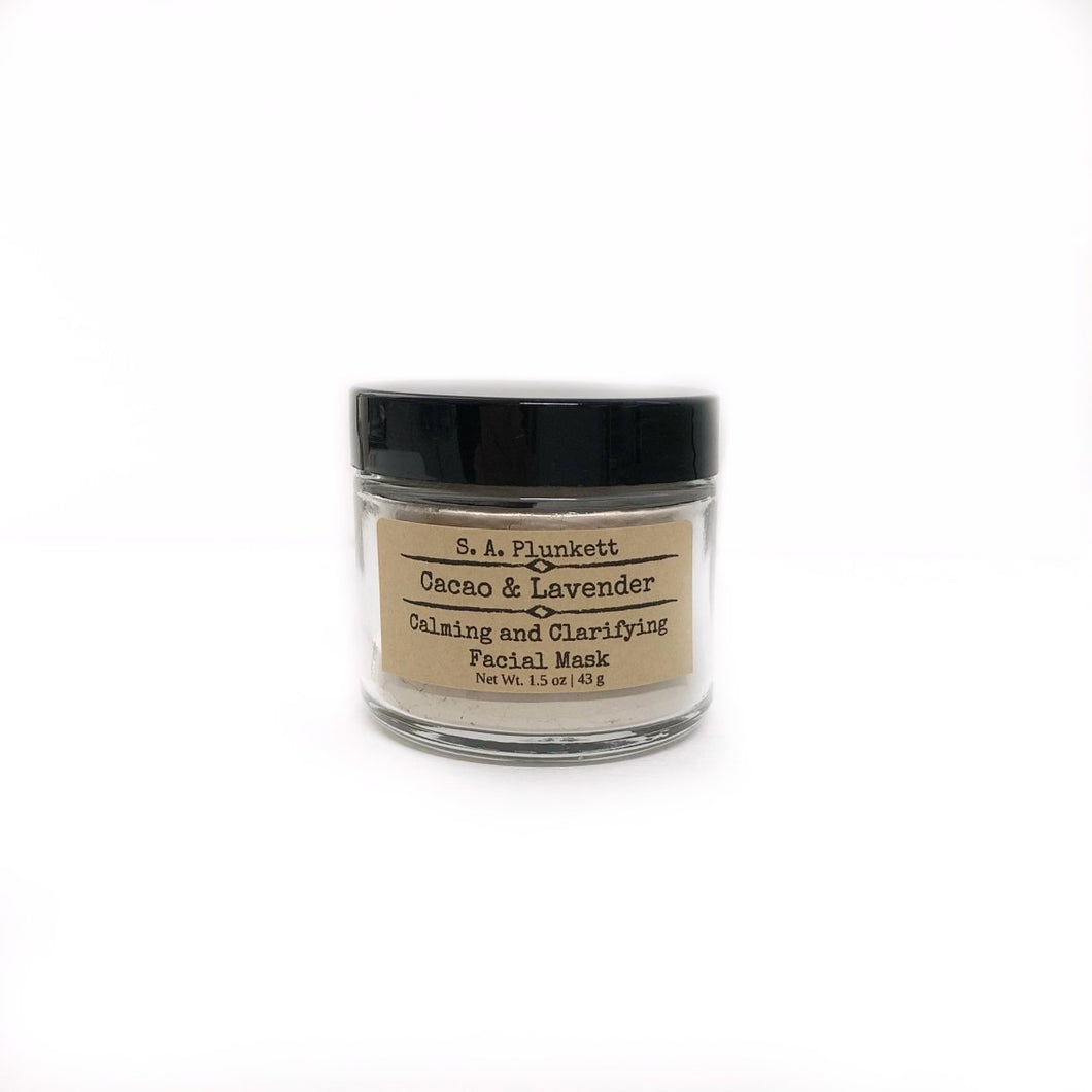 Cacao & Lavender Clarifying Facial Mask - S A Plunkett Naturals