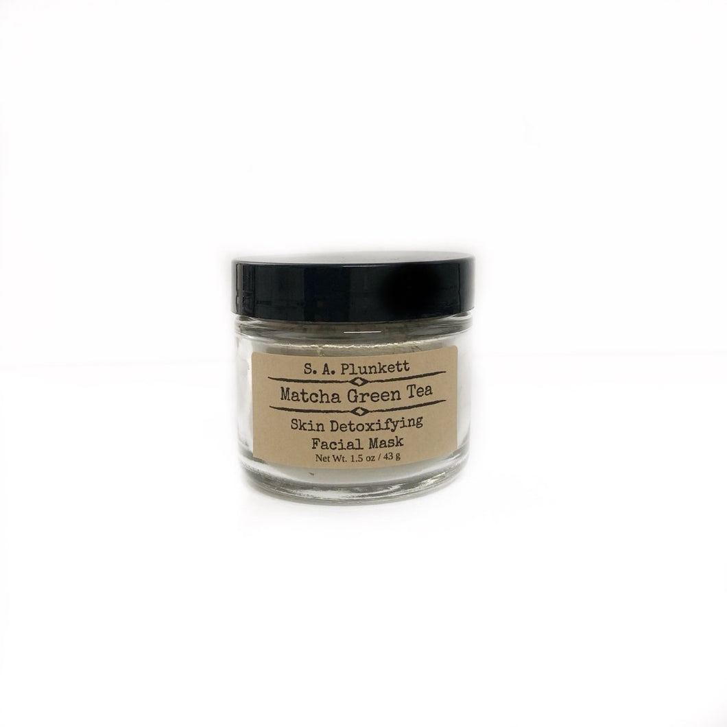 Matcha Green Tea Detoxifying Facial Mask - S A Plunkett Naturals