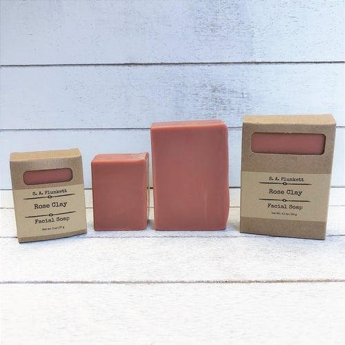 Rose Clay Facial Soap - S A Plunkett Naturals