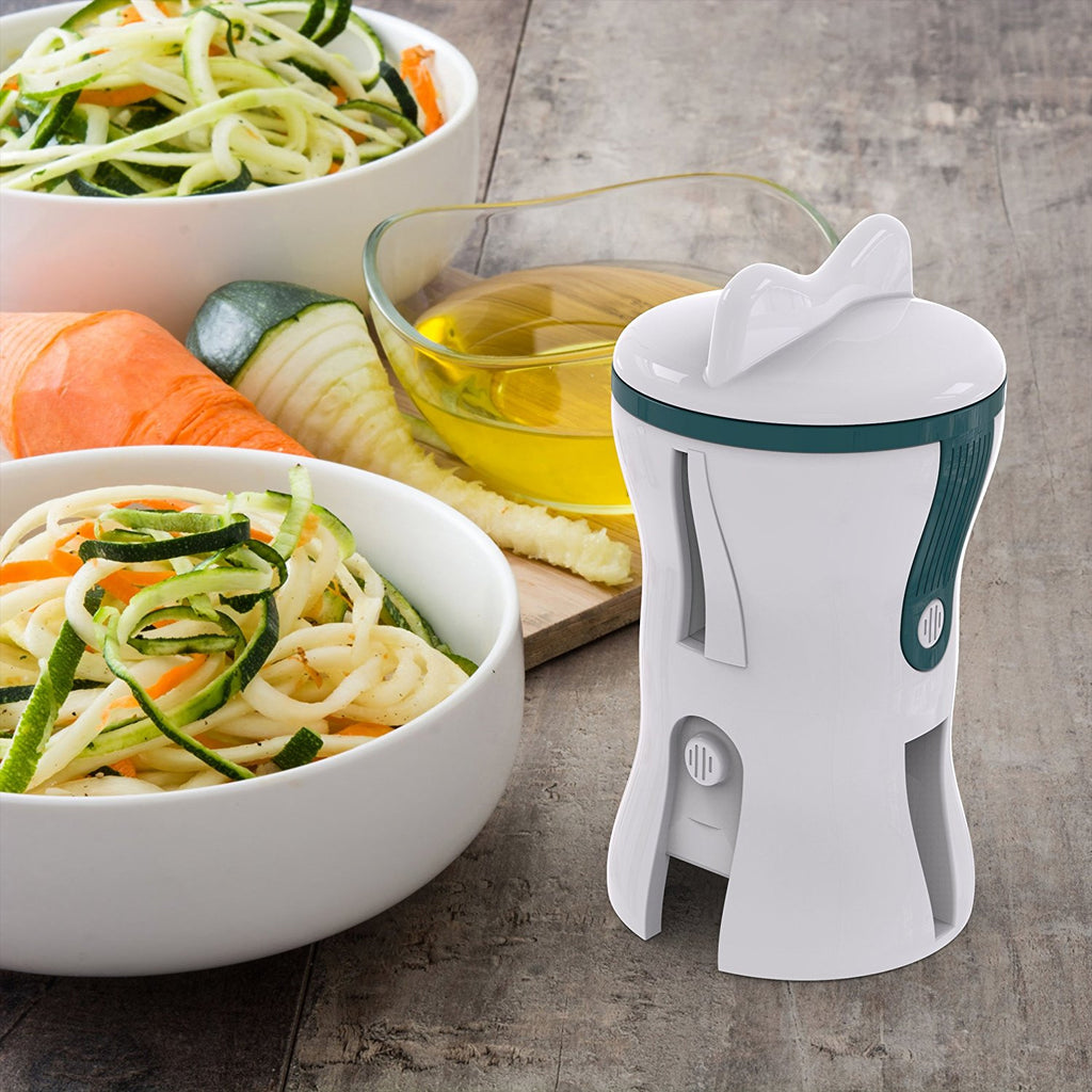 3 in 1 Premium Vegetable Spiral Slicer Spiralizer by All Times Finest - Two protective caps, 2 julienne sizes and 1 cut slicer on Amazon
