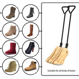 1 Pair Boot Stretchers Professional Wooden Shoes Stretcher for Boots 39-42 M