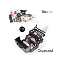 "9"" Makeup Case Portable Cosmetic Storage Box"