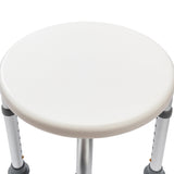 Aluminum Alloy Elderly Bath Chair Round Stool with Sucker Armrest