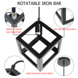 Modern Simple Iron Geometric Shape (Box) Ceiling Lamp