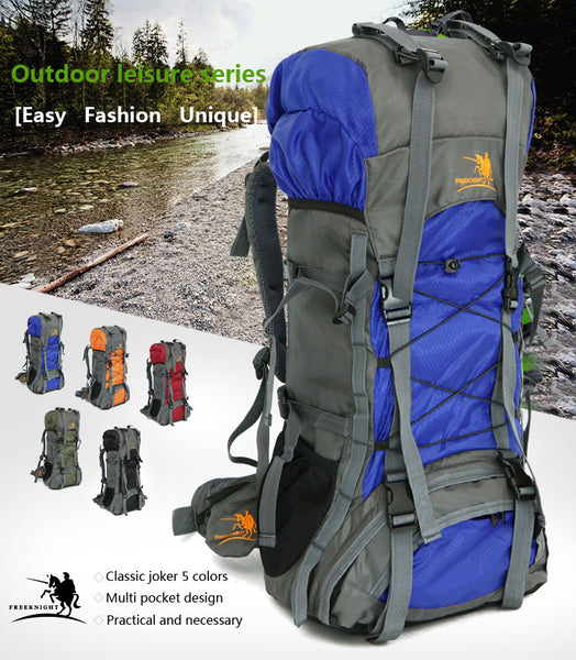 60L Outdoor Waterproof Hiking Camping Backpack
