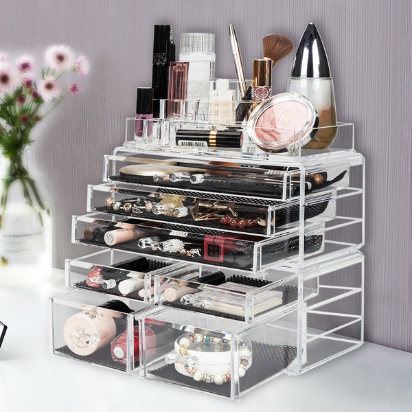 Acrylic Cosmetics Makeup and Jewelry Storage Case