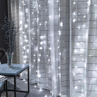 3M x 3M 300-LED Warm White Curtain String Light