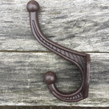 "Wall Coat Hooks Hat Hook Hall Tree 4 1/2"" Brown"
