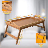 Bamboo Foldable Lap Desk Bed Tray Table
