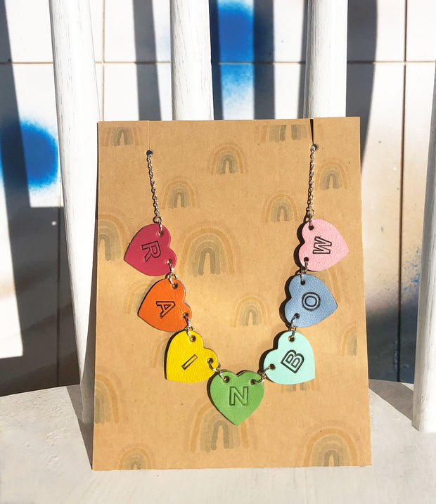 Rainbow Hearts Necklace