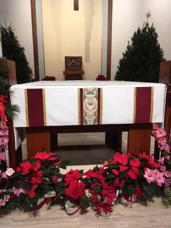Custom Altar Cloth for St. Rite Catholic in Clarklake