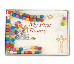 Multi-Color Wooden Kiddie Rosary  - TA01181MCBX