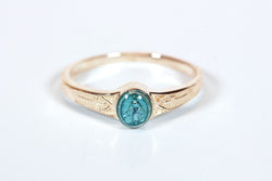 Miraculous Ring 14 Karat Gold with Blue Epoxy  - FN0511BMKT