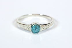 Miraculous Ring Sterling Silver with Blue Epoxy  - FN0511BMSS