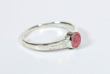 Miraculous Ring Sterling Silver with Pink Epoxy  - FN0511PMSS