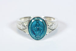 Miraculous Ring Sterling Silver Blue Epoxy - FN0520BMSS