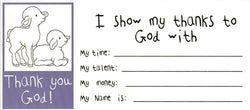 Thank You God - Children's Offering Envelopes - MA04289