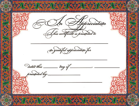 Appreciation Certificate - MA01722