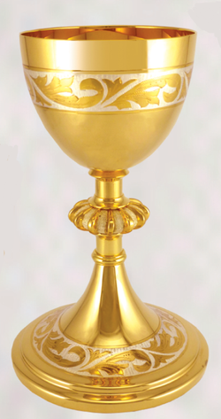 Gold Plated Chalice with Silver Accent XZ10-005