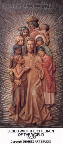Jesus with Children of the World - High Relief - HD10032