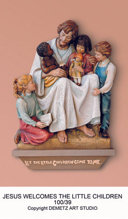 Jesus with the Children of the World - High Relief - HD10039