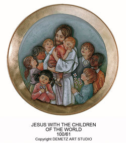 Jesus with Kids - Medallion -HD10061