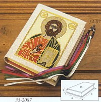 Book Cover in White with Jesus - WN2087
