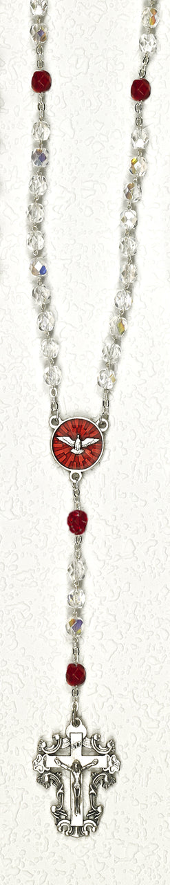 Clear Holy Spirit Confirmation Rosary - NP108164251HS