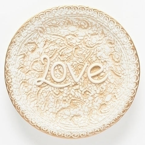 Wedding Anniversary Lace Keepsake Plate  - LI10918
