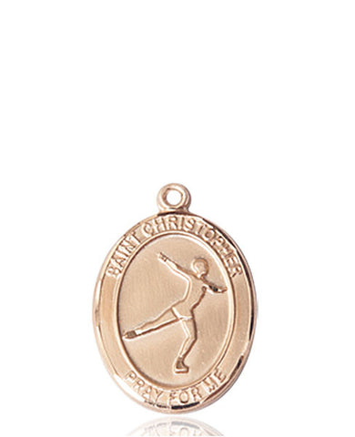 St. Christopher/Figure Skating Medal - FN8139KT