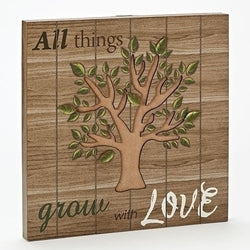 Tree Cutout Plaque - LI11066